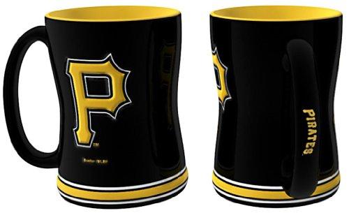 Boelter Brands MLB Cappuccinotasse 15 oz, Unisex-Erwachsene, SYNCHKG030392, Pittsburgh Pirates, 14 FL. oz. - Pittsburgh Pirates-cup
