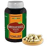 VITA IDEAL ® Brennessel-Wurzel (Urtica dioica) 360 Kapseln je 400mg, aus rein natürlichen Kräutern, ohne Zusatzstoffe