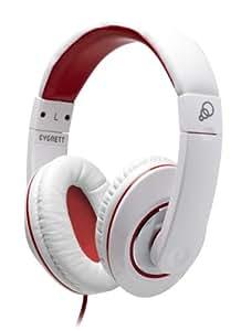 Cygnett SoundCheck Headphones - White/Red