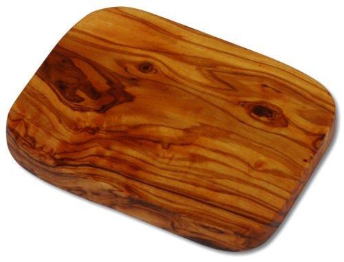 2Raclette de tabla de cortar, rectangular, madera de olivo