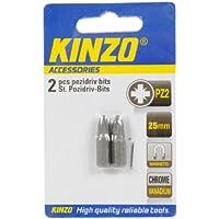 Kinzo 72033 2 Embouts aimantés tête cruciforme pozidriv PZ2 L x 25 mm