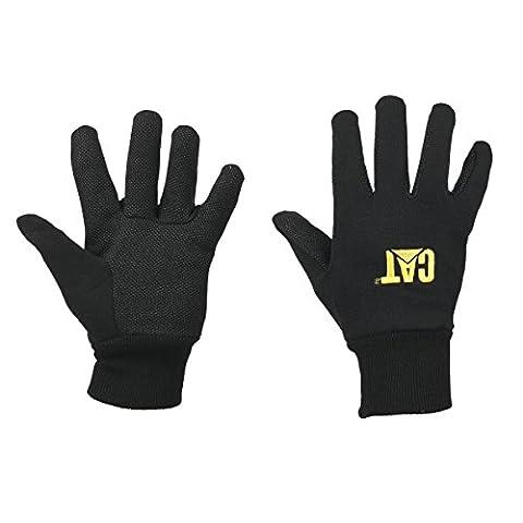 CAT Jersey Palmenmotiv Handschuhe mit Mikropunkt Black groß