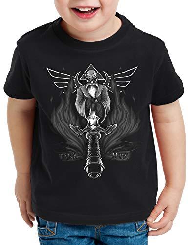 A.N.T. Nimm das Master Schwert T-Shirt für Kinder Sword link Hyrule Zelda, Größe:128