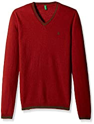 United Colors of Benetton Baby Boys Sweater (15A1032C4047G281_Chilli Pepper Red_1Y)