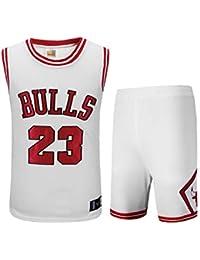 dafd1883f9dc3 Basport Traje de Ropa de Baloncesto Masculino NBA Bulls Michael Jordan No.  23