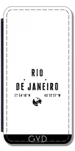 Leder Flip Case Tasche Hülle für Apple iPhone 5/5S - Rio De Janeiro by les caprices de filles Lederoptik