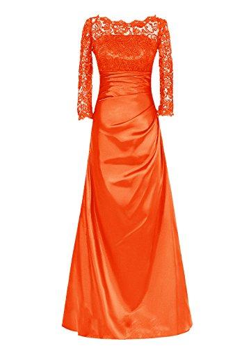 Dresstells, Robe longue de demoiselle d'honneur Robe de soirée Robe de mère de mariée Tenue de mariage Orange