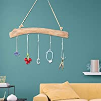 Stronrive Wooden Pendant Keys Hooks Small Jewelry Key Door Rear Hanger Driftwood Wall Coat Rack Home Decoration boosted