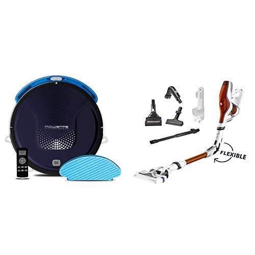 Rowenta Smart Force Explorer Aqua RR6871WH - Robot Aspirador 2 en 1, aspira y friega + Rowenta Air Force...