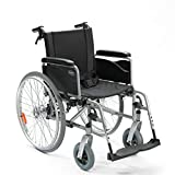 Invacare Rollstuhl Action 1 NG mit Begleiterbremse/Trommelbremse Sitzbreite 43 cm silbergrau faltbar