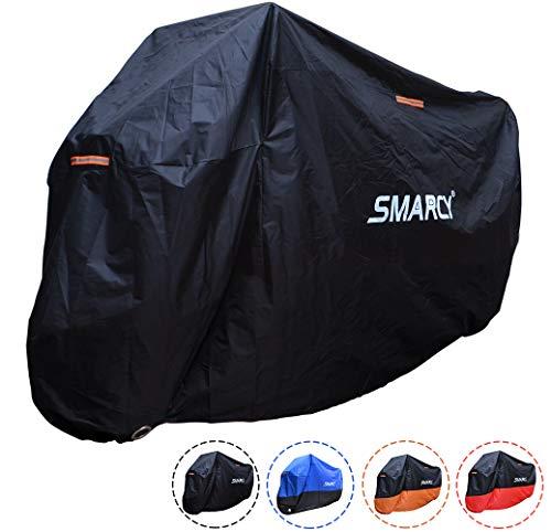 SMARCY® Motorradgarage Motorradabdeckung Motorrad Abdeckplane Wasserdicht Staubdicht XXXL Schwarz