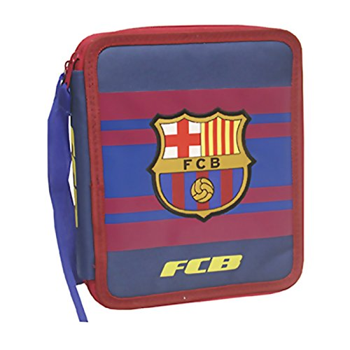 FC BARCELONE - Grand trousse scolaire garnie double Rayures FC Barcelone Coupe d'Europe 2016