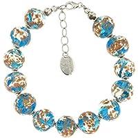 Venetiaurum - Woman bracelet with spheres in original Murano glass and 925 silver - Certified Made in Italy jewel