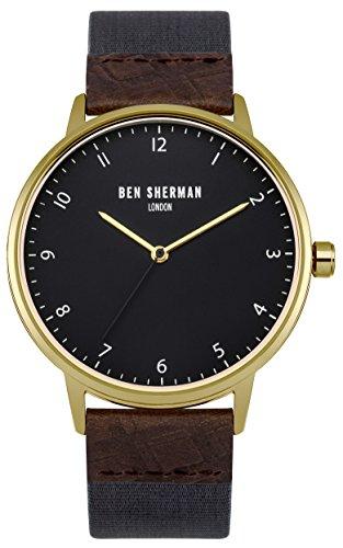 ben-sherman-hommes-de-montre-a-quartz-avec-gris-cadran-affichage-analogique-et-bracelet-en-tissu-ble