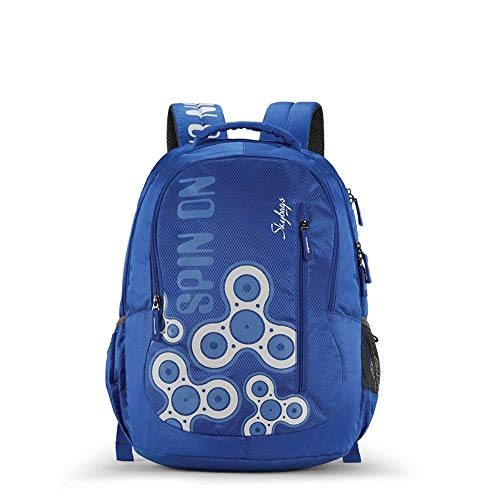 Skybags New Neon Polyester 1850 cm Blue Spacious School Backpack-32...