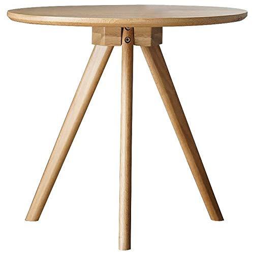 Mesa de centro Tabla de madera maciza de café Mesa redonda acento ...