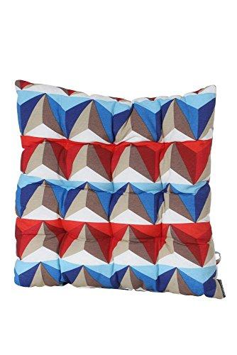 Madison 985106 Coussin d'Assise pour Fauteuil Coton/Polyester Bleu 46 x 46 cm