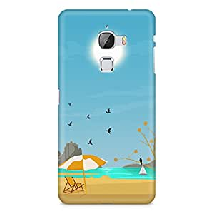 Printed back cover for le max 2 by Motivatebox. Beach sunny day design, Polycarbonate Hard case with premium quality and matte finish