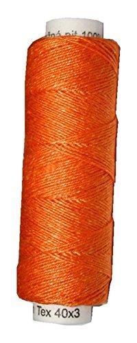 Leinengarn 100% Leinen 40x3 orange 50 m (2006) (Häkel-occhi-muster)