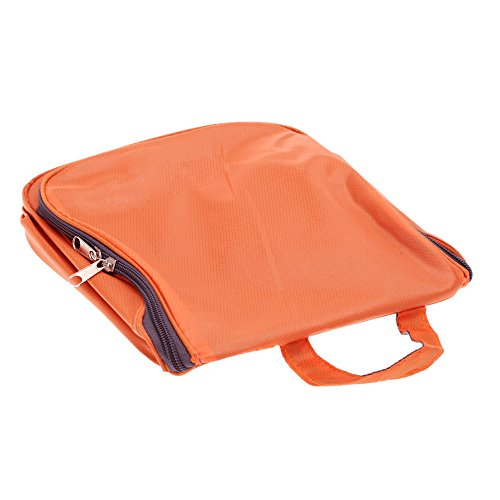 EKugo (TM) Custodia Grande Multifunzione Organizer–Beauty case da viaggio borsa Make Up appeso storage Grooming Zipper Outdoor Wash Cosmetic Bag Yellow Orange