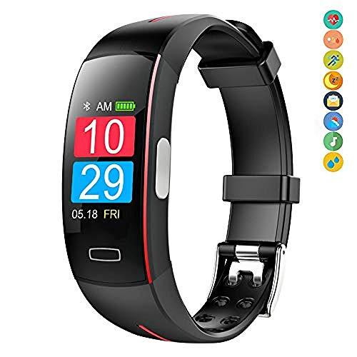 BYBYC Reloj inteligente, pulsera Deportiva Reloj de respiración de presión arterial Con frecuencia cardíaca, monitoreo del sueño, Compatible Con iOS/Android, 4