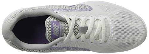 NikeNike Revolution 3, Damen Laufschuhe - Scarpe Running Donna Nero (White/purple Earth-wolf Grey)
