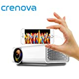 Crenova YG520 LED Projektor Anschließen Mit Smartphone Über USD Daten Kabel Für Home Theater Film Projektor Mit HDMI USB VGA AV