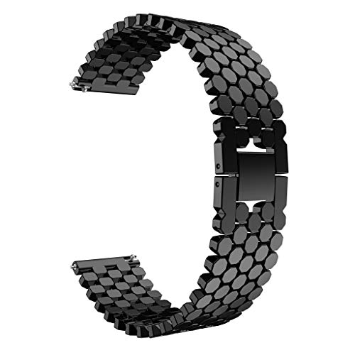 Knowin Uhrenarmband Damen Herren Mode Ersatz Einzigartiger Edelstahl Uhrenarmband Armband für Huawei-Uhr GT Unisex Ersatzarmband Fitness Tracker Band Fischschuppen Stahlband