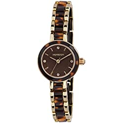 Monsoon Women's Quartz Watch with Brown Dial Analogue Display and Brown Bracelet MO4037
