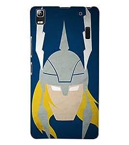 ColourCraft Warrior Look Design Back Case Cover for LENOVO A7000