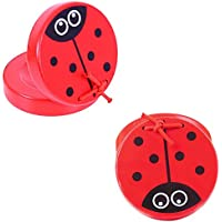 Bigjigs Toys Colourful Ladybird Castanets (One Pair) - Musical and Noisy Toys