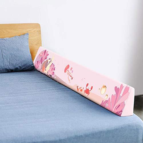Bettumrandung Nest Kopfschutz Nestchen - Baumwolle, Atmungsaktiv, Weicher Baby-Nestkantenschutz,2M-Pink