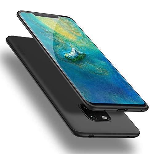 X-level Huawei Mate 20 Pro Hülle, [Guardian Serie] Huawei Mate 20 RS Hülle, Soft Flex Silikon Premium TPU Handyhülle Schutzhülle für Huawei Mate20 Pro / Mate20 RS Case Cover - Schwarz