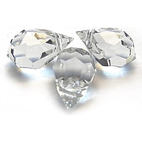 10pcs vetro cristallo sfaccettato a goccia Briolette Perline, Top Drilled sfaccettato briolette... - Swarovski Cristallo Briolette Orecchini