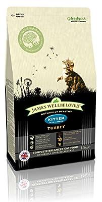 James Wellbeloved Turkey and Rice Kitten Dry Food