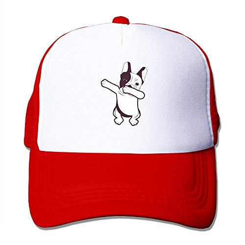 dfegyfr Dabbing French Bulldog Unisex Adjustable Snapback Baseball Mesh Kappen Trucker Hut ()
