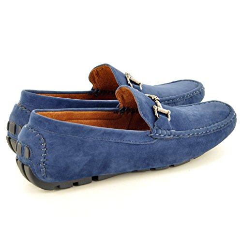 Mocassins décontractés pour homme Chaussures de conduite Bleu Marine