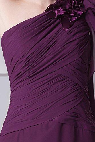 Dressystar Robe de soirée/de bal formelle Une Bretelle,en Mousseline Noir