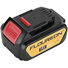 FLOUREON 18V 4000mAh Li-ion Replacement Battery of DeWalt DCB180, DCB181, DCB182, DCB201, DCB201-2, DCB200, DCB200-2, DCB204-2, DCB205-2 Compatible with DEWALT 20V MAX Power Tools (1pack)