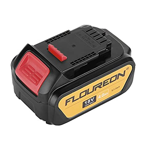 FLOUREON 18V 4000mAh Li-ion Replacement Battery for DeWalt DCB180, DCB181, DCB182, DCB201, DCB201-2, DCB200, DCB200-2, DCB204-2, DCB205-2 Compatible with DEWALT 20V MAX Power Tools