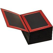 Daiber–Rollo de cinta de passepartouts estructura de cartón Burdeos con foliengeprägten Pincel strichen para formato de imagen, 13x 18cm, 125unidades), color plateado