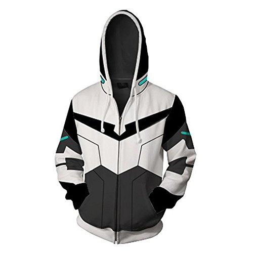 Anime Cartoon Cosplay Lance Hoodie 3D Gedruckte Keith Zipper Jacke (XL, Farbe ()