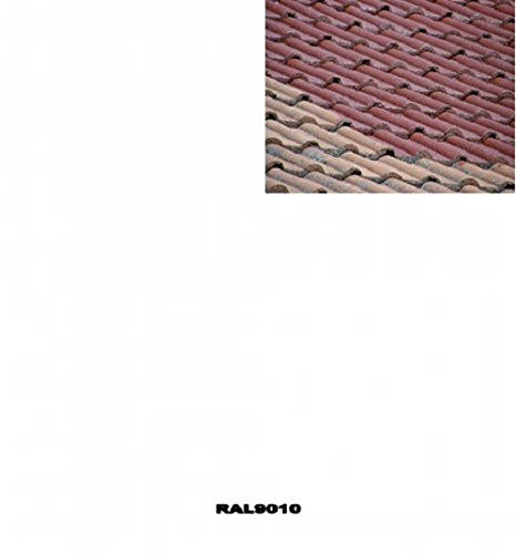 1L Ziegelfarbe Dachfarbe Dachbeschichtung Dachversiegelung in Reinweiss Dachrenovierung Metalldach Blechdach Flachdach Farbe Beschichtung Anstrich Ziegel Dach