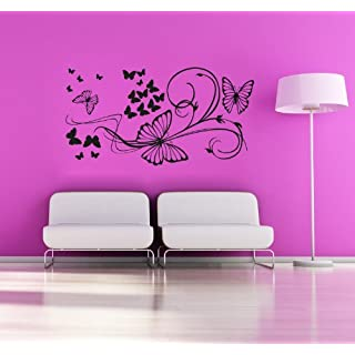 Adesiviamo 668-Butterflies the flying Butterflies Vinyl Wall Decals Stickers
