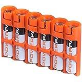PowerPax 6 AAA Battery Caddy - Orange