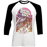 Star Wars - The Empire Strikes Back - Offiziell Herren Raglan 3/4 Ärmel T-Shirt - Weiß, Medium