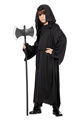 Jannes - Kinder-Kostüm Henker-Kutte, schwarz mit Kapuze 164