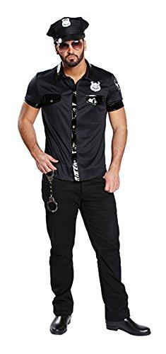 Herren Sexy Kostüm - Sexy Polizist Polizei Kost�m Herren Polizeihemd Polizeishirt Polizeikost�m Hemd Shirt Uniform Polizeiuniform US Cop Gr�sse:48