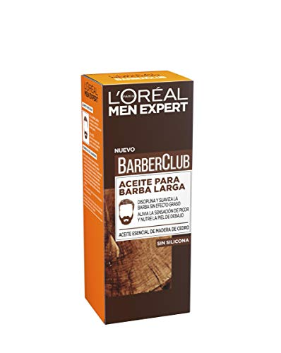 L'Oréal Paris Men Expert Barber Club Aceite Hidratante para Barba Larga y Rostro - 75 ml