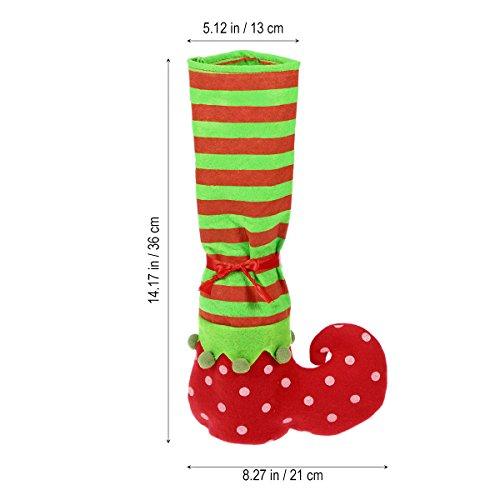 rosenice Ein Paar Weihnachtself-Strümpfe, Slipper,Tisch- und Stuhlbein-Abdeckung